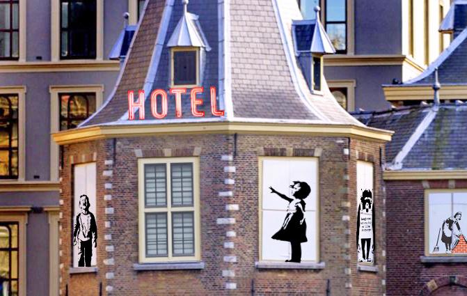 94_Banksy opent hotel Torentje Binnenhof-2